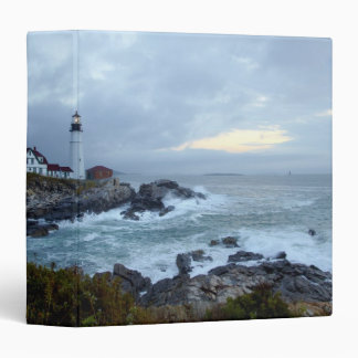 Portland Head Lighthouse at sunrise 3 Ring Binder