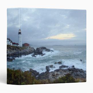 Portland Head Lighthouse at sunrise 3 Ring Binder