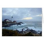 Portland Head Lighthouse at Sunrise Greeting Cards
