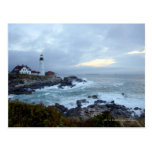 Portland Head Lighthouse at Sunrise Postcard