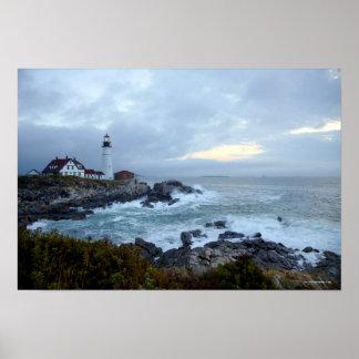 Portland Head Lighthouse at Sunrise Poster