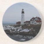 Portland Head Lighthouse Beverage Coaster