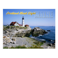 Portland Head Lighthouse, Cape Elizabeth, Maine Postcard at Zazzle