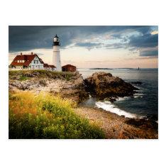 Portland Head Lighthouse | Cape Elizabeth, Me Postcard at Zazzle