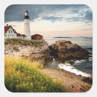 Portland Head Lighthouse | Cape Elizabeth, Me Square Sticker