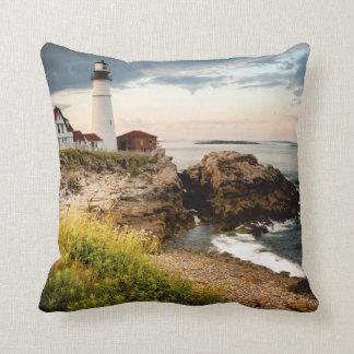 Portland Head Lighthouse | Cape Elizabeth, Me Throw Pillow