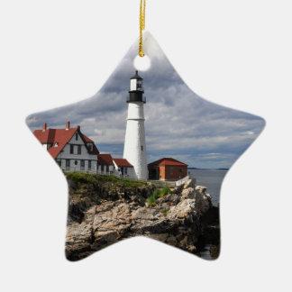Portland Head Lighthouse Ceramic Ornament