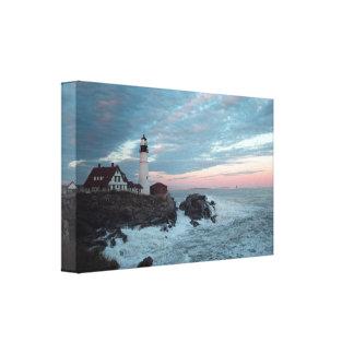 Portland Head Lighthouse Glorious Sunset! Canvas Print