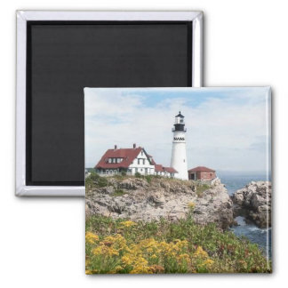 PORTLAND HEAD LIGHTHOUSE, MAINE 2 INCH SQUARE MAGNET