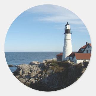 Portland Head Lighthouse Maine Classic Round Sticker