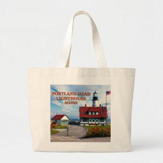 Portland Head Lighthouse, Maine Large Tote Bag