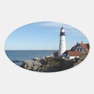 Portland Head Lighthouse Maine Oval Sticker