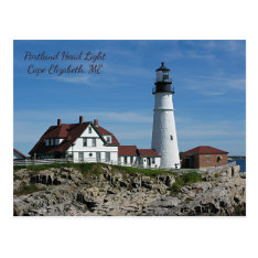 Portland Head Lighthouse, Maine Postcard at Zazzle