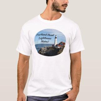 Portland Head Lighthouse Maine  T Shirt