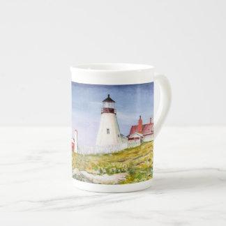 Portland Head Lighthouse Maine Watercolor Painting Tea Cup