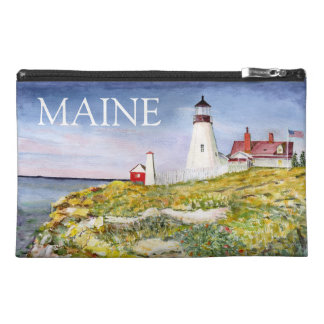Portland Head Lighthouse Maine Watercolor Painting Travel Accessories Bags