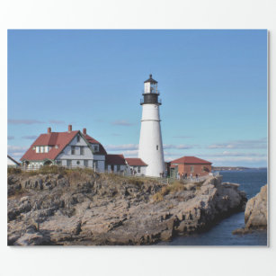 Portland Head Lighthouse Maine Wrapping Paper