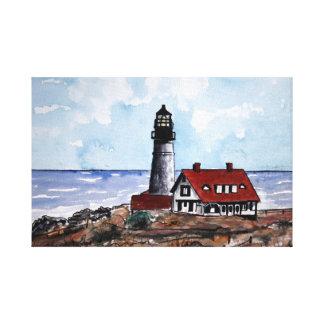 Portland Head lighthouse painting Maine Canvas Print