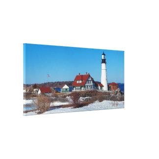 Portland Head Lighthouse Panoramic Canvas Print