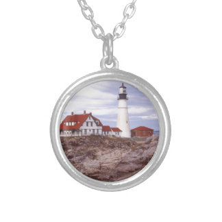 Portland Head Lighthouse Silver Plated Necklace