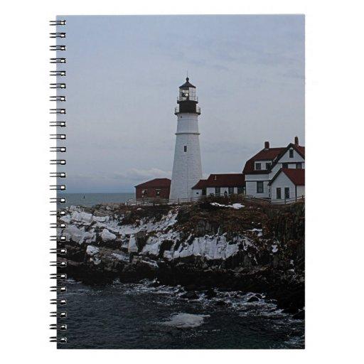 Portland Head Lighthouse Spiral Notebooks