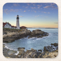 Portland Head Lighthouse Square Paper Coaster