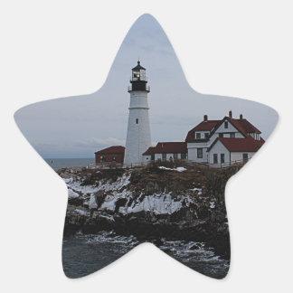 Portland Head Lighthouse Star Sticker