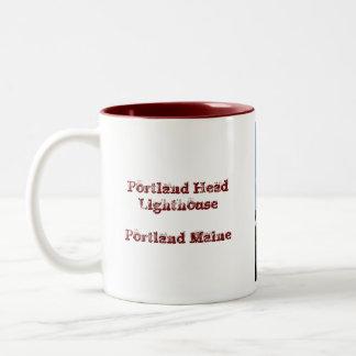 Portland Head Lighthouse Two-Tone Coffee Mug