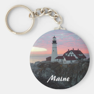 Portland Headlight Lighthouse in Maine Keychain