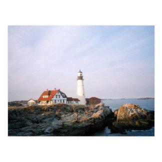 Portland Headlight Lighthouse in Maine Postcard