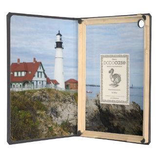Portland Headlight lighthouse on rocky shore iPad Air Cover