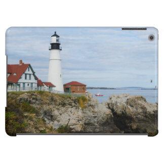 Portland Headlight lighthouse on rocky shore Cover For iPad Air