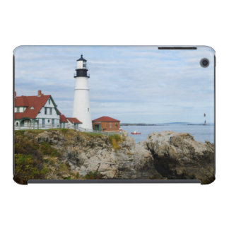 Portland Headlight lighthouse on rocky shore iPad Mini Cover