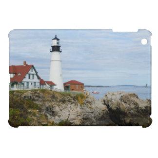 Portland Headlight lighthouse on rocky shore Cover For The iPad Mini