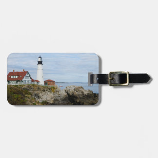 Portland Headlight lighthouse on rocky shore Tag For Bags