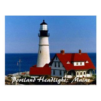 Portland Headlight, Maine Postcard