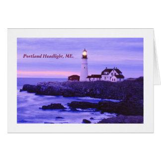 Portland HeadLight, ME Card
