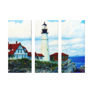 Portland Headlight Oil Effects Canvas Print