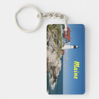Portland Headlight Rectangle Keychain