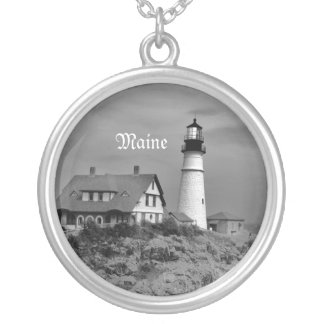 Portland Headlight Silver Plated Necklace