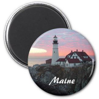 Portland Headlight Sunrise Maine Magnet