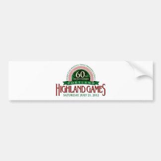 Portland Highland Games 60th Anniversary Items Bumper Sticker