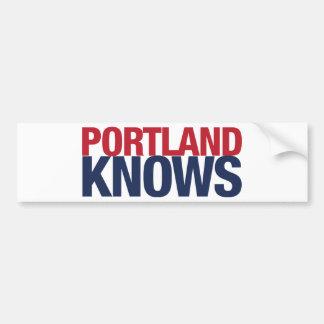 Portland Knows Bumper Sticker