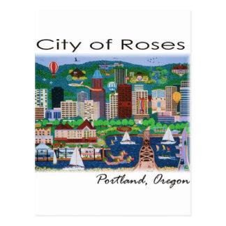 Portland~ la ciudad de rosas postal
