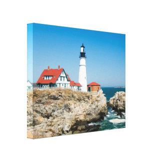 Portland Lighthouse Wrapped Canvas