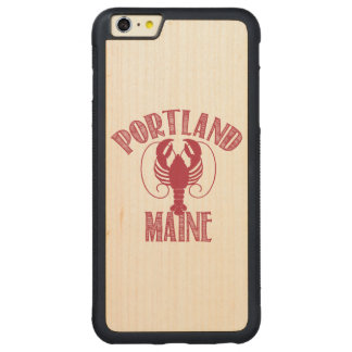 Portland Main Lobster Carved® Maple iPhone 6 Plus Bumper