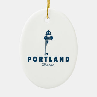 Portland Maine (5) Ceramic Ornament