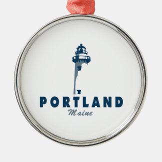 Portland Maine (5) Metal Ornament
