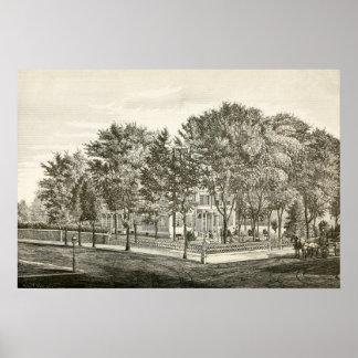 Portland, Maine Asa Clapp Mansion Circa 1880 Print