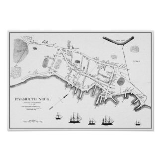 Portland, Maine Before the Mowat Burning, 1775 Poster